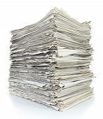 Stack Of Files Full Of Documents Signifying Concepts Such As Work