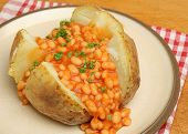 Jacket potato with baked beans.