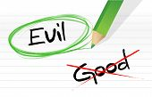 picture of good-vs-evil  - good vs evil illustration design graphic over a notepad paper - JPG