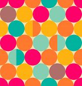 Retro abstract circle seamless pattern