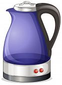Illustration of an electric kettle on a white background