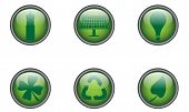 Green Buttons Round