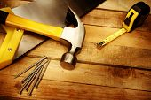 stock photo of sawing  - Hammer - JPG