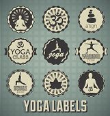 Vector Set: Yoga Labels
