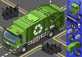 Isometric Garbage Truck