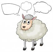 Illustration of a lamb with empty callouts on a white background
