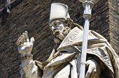 Marble statue. Bologna. Emilia-Romagna. Italy.