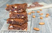 American Classic Brownies With Almonds