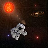 Astronaut Sun Stars