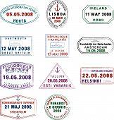 Colecção de selos de passaporte europeu