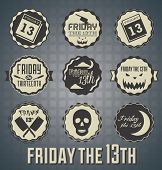 Friday the 13th etiquetas e iconos