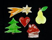 Christmas decorations handmade young children