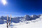 stock photo of italian alps  - Skiing - JPG
