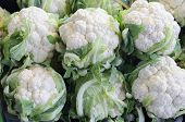 Cauliflower In The Market