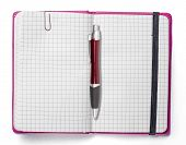Blank Page Of Pink Note Book