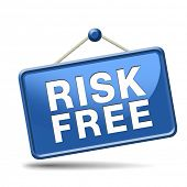 stock photo of risk  - risk free 100 - JPG