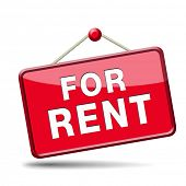 stock photo of house rent  - apartment or house for rent banner - JPG