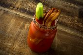 Mason Jar Bacon Bloody Mary