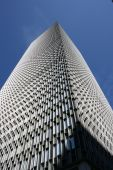 stock photo of prudential center  - Looking up at the Prudential Tower in Boston - JPG