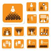 Team Building Icon for Business Concept