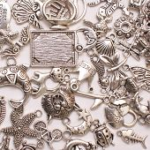 Assorted Silver Zinc and Pot Metal Charms