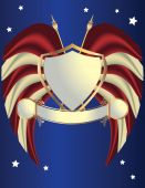 Red White And Blue Shield