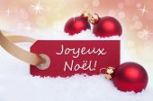 Label With Joyeux Noel