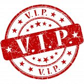 VIP Grunge redonda selo vermelho