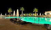 Swimming Pool In Night Illumination, Halkidiki, Greece