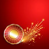 happy diwali burning crackers background