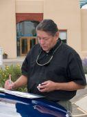 Native American Man Writing Notes