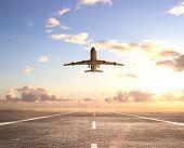 Flugzeug auf Landebahn