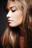 Blond Hair Woman Profile
