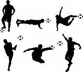 Football Silhouette Set