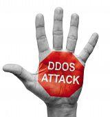 DDoS Attack - Stop Concept.