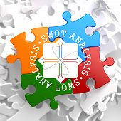 SWOT Analisis on Multicolor Puzzle.