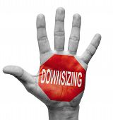 Downsizing. Stop Concept.