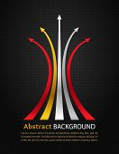 Colored Arrows On Black Background.vector Design Template.