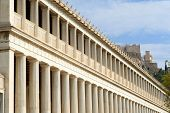 Stoa Of Attalos, Ancient Agora In Athens