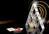 3D Render Of A Posh Jackpot Icon  On The Casino Table