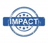 Business impact stamp with stars isolated on a white background.