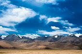 Himalaya high mountain landscape panorama. India