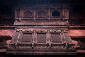 Hindu temple architecture detail.. Nepal