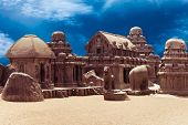 Panch Rathas Monolithic Hindu Temple. India