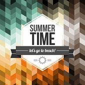 Seamless Geometric Pattern Summer Time