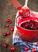 Cranberry Sauce In A Pan