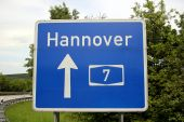 Highway Sign To Hannover, Germany