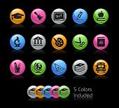 School & Education Icon set / The file Includes 5 color versions in different layers.