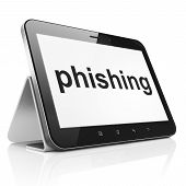 Security concept: Phishing on tablet pc computer