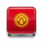 Metal  icon of Kyrgyzstan